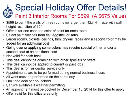 Special Holiday Offer Details