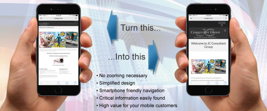 Mobile Ready Web Design - JC Consultant Group